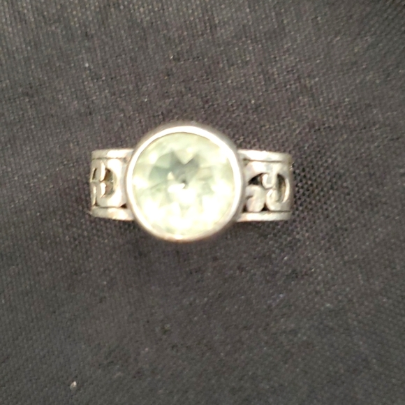 Brighton Ring with lite green stone Size 8